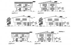 Dwg file of sectional elevation of laboratory