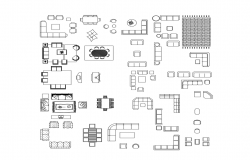 Dwg file of sofa blocks