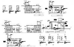 Dwg file of studio apartment elevations