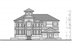 Dwg file of the bungalow with detail dimension