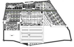 Dwg file of the commercial complex