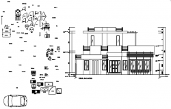 Dwg file of the education centre building design