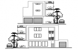 Dwg file of the house design with different elevation