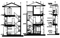 Dwg file of the house with detail dimension