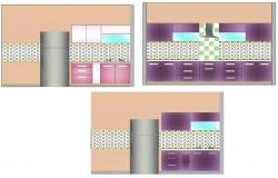 Dwg file of the kitchen design
