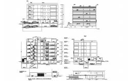Dwg file of the residential apartment with elevation and section