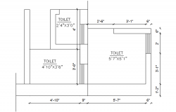Toilet Layout In AutoCAD File