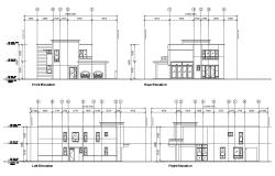 Dwg file residential house elevation