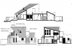 Dwg file residential house elevations
