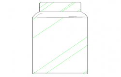 Dynamic cad block design of glass jar dwg file