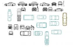 Dynamic luxuries car block cad drawing details dwg file