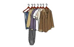 Dynamic multiple clothes and coat 3d blocks cad drawing details dwg file
