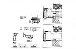 Dynamic restaurant furniture layout and plan details dwg file