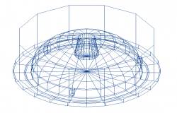 Easy_0 degree spherical structure design 3d wire frame view dwg file