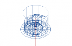 Easy_90 degree spherical structure design 3d wire frame view dwg file