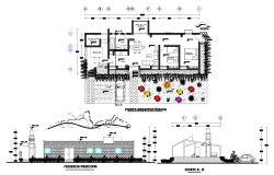 Eco-logical house plan detail dwg detail.,