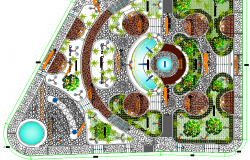 Ecological Public Park Architecture Design & Structure Details dwg file.