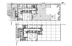 Education building detail plan layout dwg file
