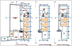 Education center floor plan view dwg file