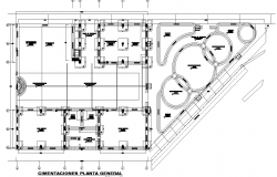 Education institution layout plan dwg file