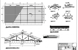 Education school Roof plan and section detail dwg file