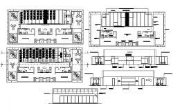Educational Building Plan dwg File