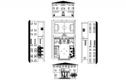 Educational building design with detail dimension in dwg file