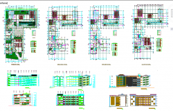 Educational institute Design in autocad file