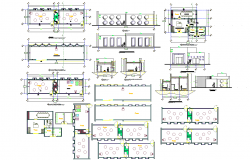 Educational institute interiors detail and design in autocad dwg files