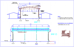 Educational institute steel structural section view dwg file