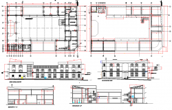 Educational unit floor plan layout details dwg file