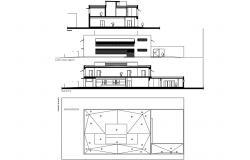 Educational work shop building architecture project details dwg file