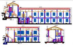 Educative elevation dwg file