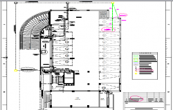 Eighth floor layout plan details of office building dwg file