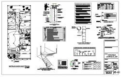 Electric Layout design of House floor dwg file