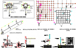 Electric installation architecture project dwg file