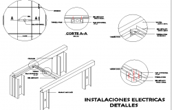 Electric installation detail drawing.