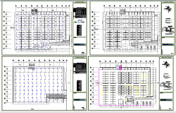 Electric installation details of all floors of super market dwg file