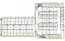 Electric installation details of shopping center dwg file