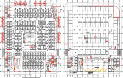 Electric installation plan details of shopping center dwg file