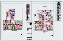 Electric layout of Hospital design drawing