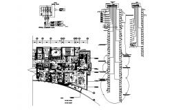 Electric layout of a residential apartment in dwg file