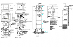 Electric layout plan detail dwg file