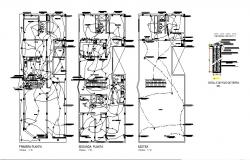 Electric layout plan of the house design with detail dimension in AutoCAD