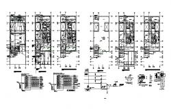 Electric layout plan of the house with detail dimension in dwg file