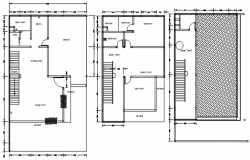 Electric layout plan of the residential house in dwg file