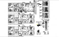 Electric layout plan of the residential house with detail dimension in dwg file
