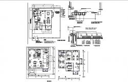 Electric layout plan of villa 18.20mtr x 18.40mtr with detail dimension in AutoCAD