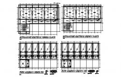 Electric layout plan with detail dimension in dwg file