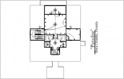 Electric line view of house plan dwg file